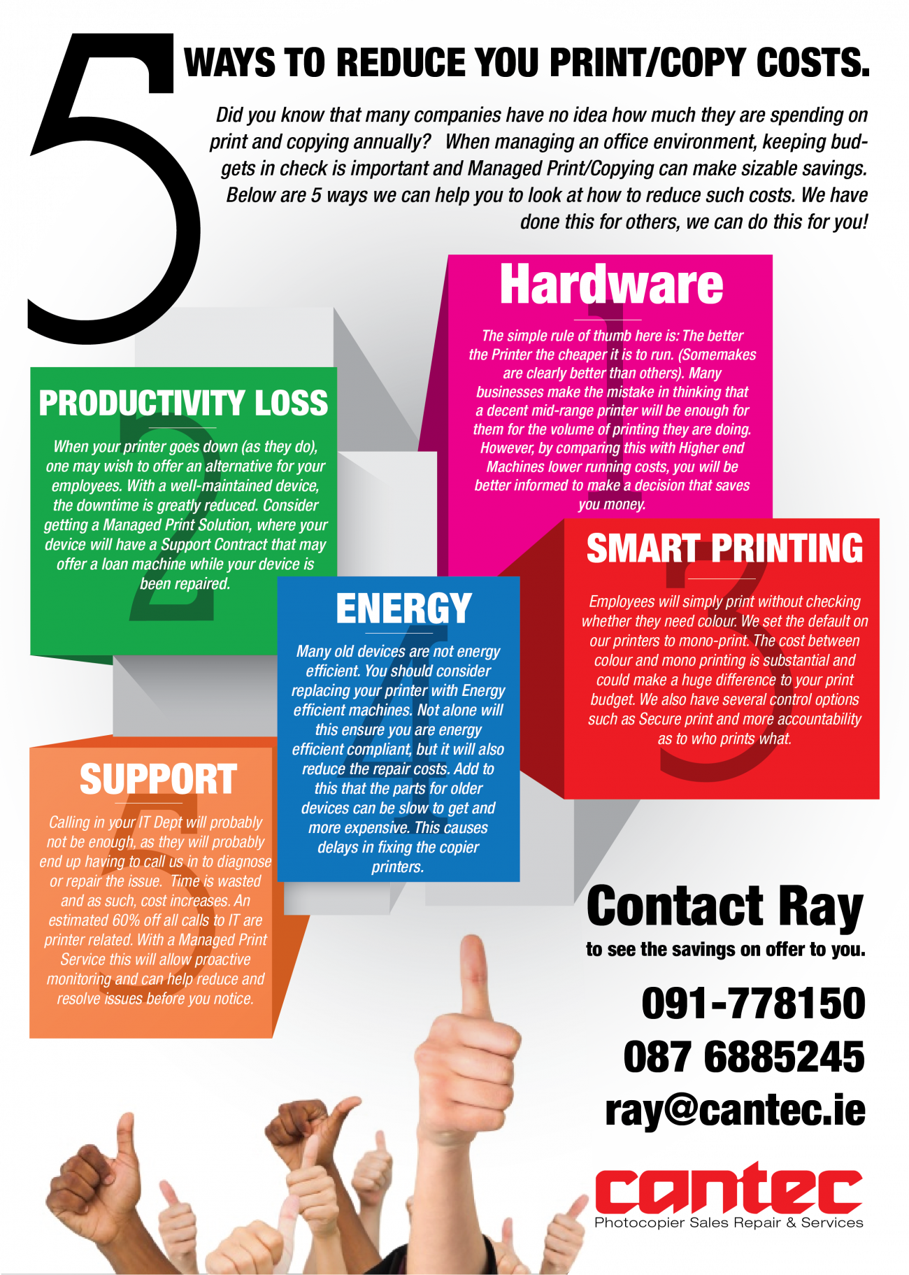 Managed Print - Services - Cantec - Galway Ireland